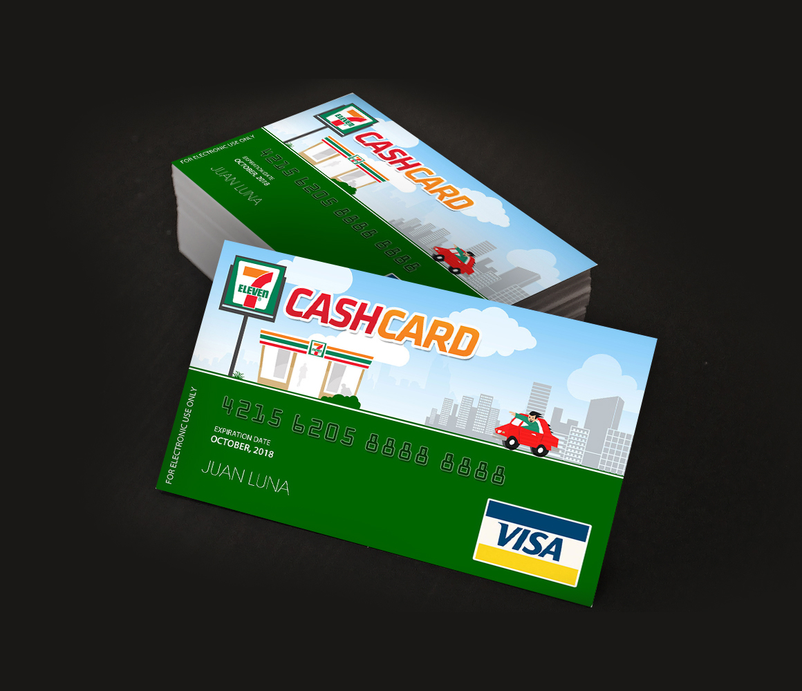 7 eleven freelance graphic designer philippines seven eleven business card reheart Choice Image